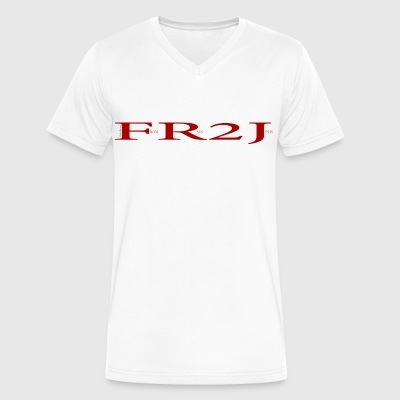 FR2J: From Rags to Jesus - Men's V-Neck T-Shirt by Canvas