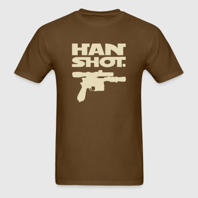 Han Shot. Period. (Mens cream on brown) - Men's T-Shirt