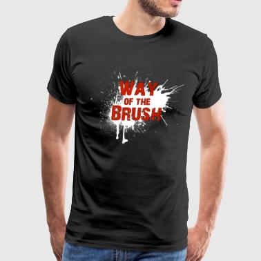 Official Way of the Brush b&t T-shirt - Men's Premium T-Shirt