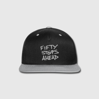 SIlver Glitz FIFTY STEPS AHEAD Snap-back - Snap-back Baseball Cap