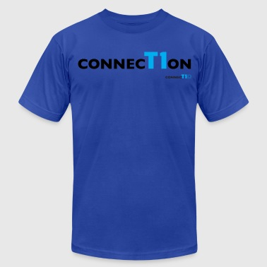 ConnecT1on Blue T-shirt - Men's Fine Jersey T-Shirt