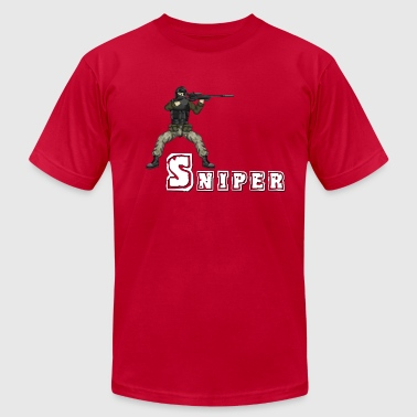 Battlefield Friends - Sniper - Men's T-Shirt by American Apparel