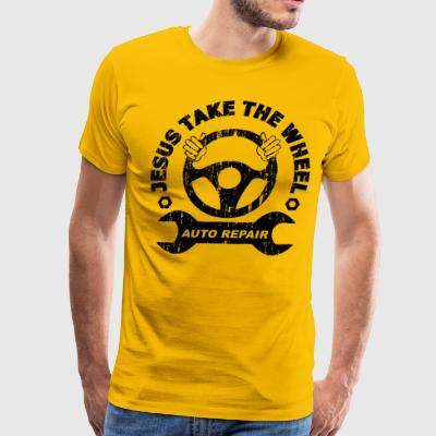 Jesus Take the Wheel Tee - Men's Premium T-Shirt