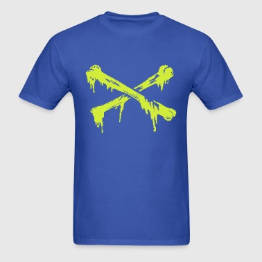 TOXIC CROSSBONES [BLUE/GREEN] - Men's T-Shirt