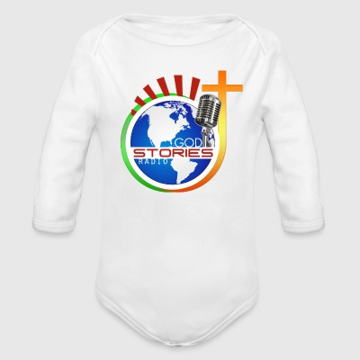 God Stories Radio official   - Long Sleeve Baby Bodysuit