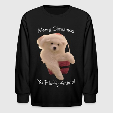 Merry Christmas, ya fluffy animal! - Kids' Long Sleeve T-Shirt