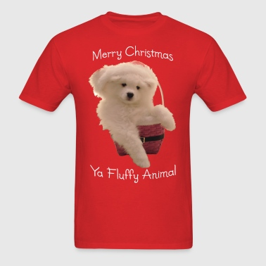 Merry Christmas, ya fluffy animal! - Men's T-Shirt