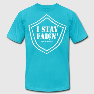 I STAY FADIN BARBER LOGO S2 T-Shirts - Men's T-Shirt by American Apparel
