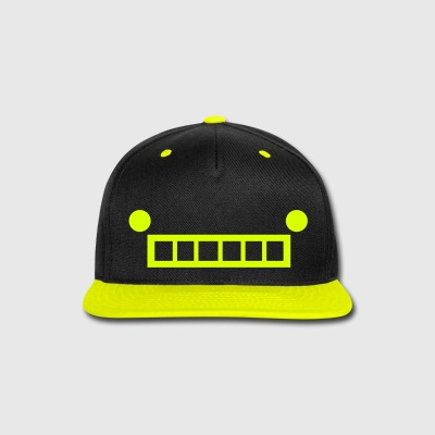Robot Face Cap (Neon Yellow) - Snap-back Baseball Cap
