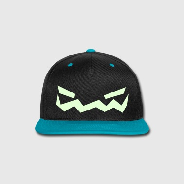 Jack o Lantern Face Cap (LightBlue) - Snap-back Baseball Cap