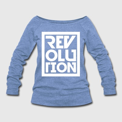 revolution sweatshirt  - Women's Wideneck Sweatshirt