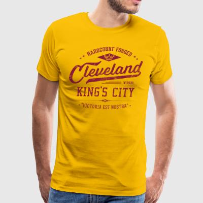 Cleveland King's City (Wine/Gold) Retro Men's Ca - Men's Premium T-Shirt