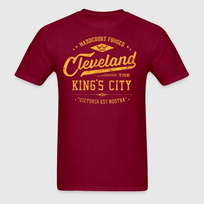 Cleveland King's City (Gold/Wine) Retro Men's Ca - Men's T-Shirt