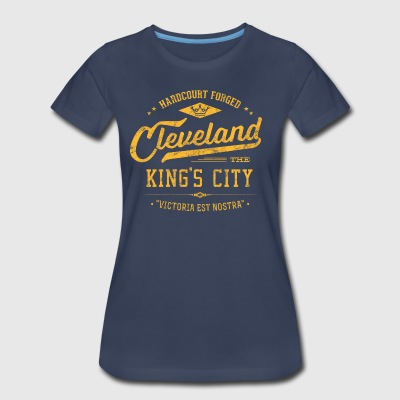 Cleveland King's City (Gold/Navy) Retro Ladies C - Women's Premium T-Shirt