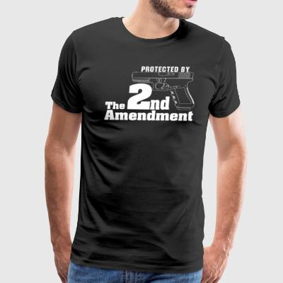Protected By The Second Amendment Black T-Shirt - Men's Premium T-Shirt