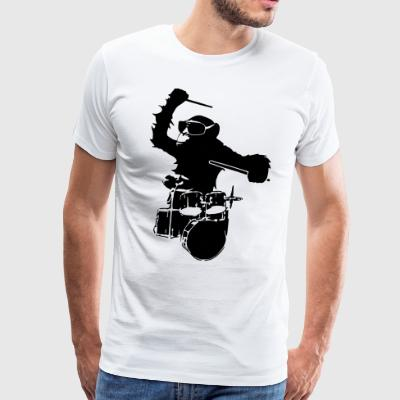 drums monkey T-Shirts - Men's Premium T-Shirt