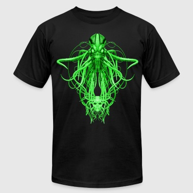 Cthulhu No.4 in Green Steampunk T-Shirts - Men's Fine Jersey T-Shirt