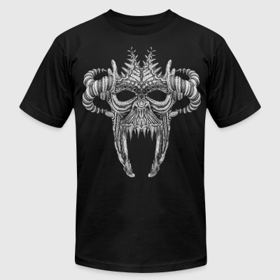 Skull Mask No.1B - Men's T-Shirt by American Apparel