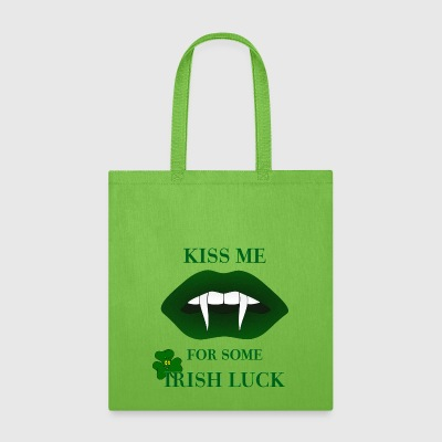 Kiss Me For Some Irish Luck Tote Bag - Tote Bag