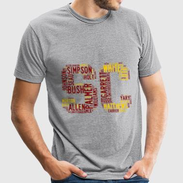 All Time SoCal Football Greats SC Design Unisex Tr - Unisex Tri-Blend T-Shirt