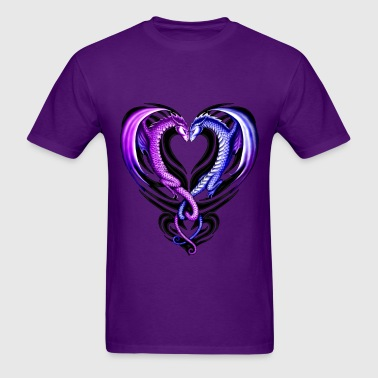 Tribal Dragon Heart - Men's T-Shirt