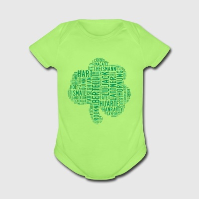 All Time Notre Dame Shamrock Football Greats Baby' - Short Sleeve Baby Bodysuit