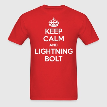 Keep Calm & Lightning Bolt - Men's T-Shirt