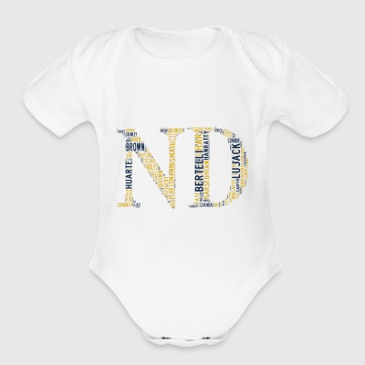 All Time Notre Dame Football Greats Baby's Short S - Short Sleeve Baby Bodysuit