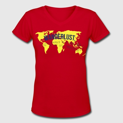 Wanderlust Tee - Women's V-Neck T-Shirt