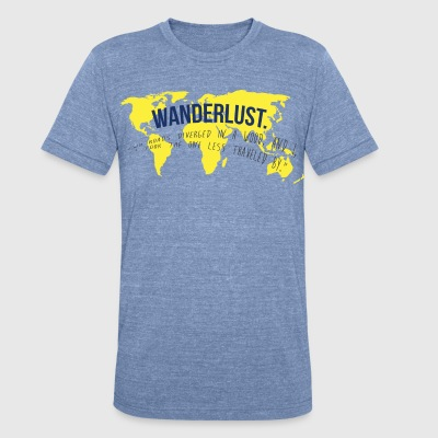 Wanderlust Tee - Unisex Tri-Blend T-Shirt by American Apparel