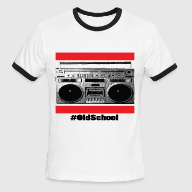 Old School Boom Box - Men's Ringer T-Shirt