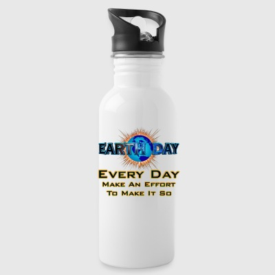 Earth Day Every Day Make It So Water Bottle - Water Bottle