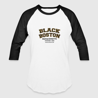 Baseball style jersey with Black Boston Classic le - Baseball T-Shirt