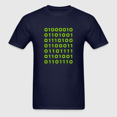 Bitcoin binary - Men's T-Shirt