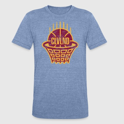 CLVLND Baller Vintage T-Shirt (Blue) - Made in USA - Unisex Tri-Blend T-Shirt by American Apparel