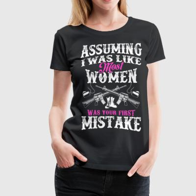 First Mistake | Military Woman - Women's Premium T-Shirt