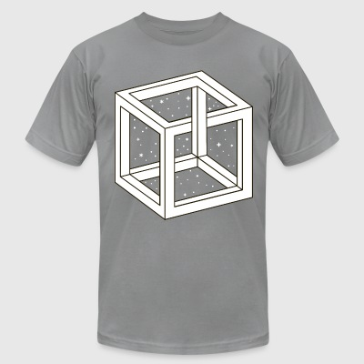 Unreal Cube Space T-Shirts - Men's T-Shirt by American Apparel