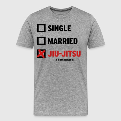 Single Married or Jiu Jitsu (Mens) - Men's Premium T-Shirt