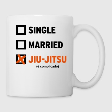 Single Married or Jiu Jitsu Coffee Mug (white) - Coffee/Tea Mug