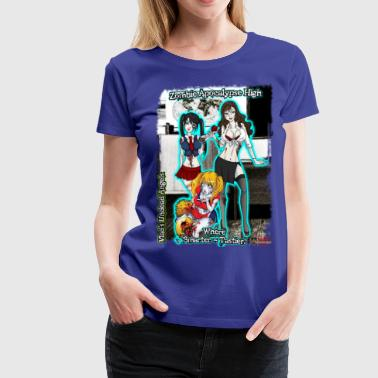 Zombie Apocalypse High! - Women's Premium T-Shirt