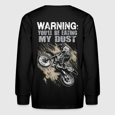 FMX Dust Warning Kids' Shirts - Kids' Long Sleeve T-Shirt