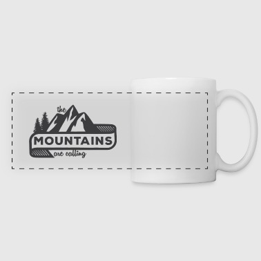 The Mountains Are Calling - Panoramic Mug