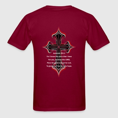 Jeremiah 29:11 Design on back - Men's T-Shirt