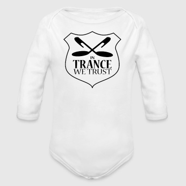 In Trance We Trust - Babies One Piece - White - Long Sleeve Baby Bodysuit