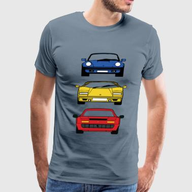 80'S BOYHOOD DREAM CARS - Men's Premium T-Shirt