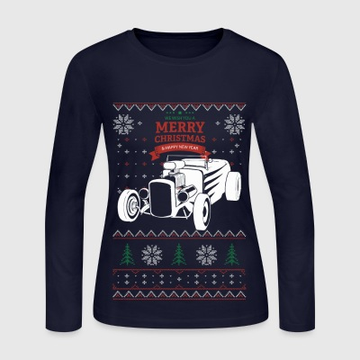 Hot Rod Christmas - Women's Long Sleeve Jersey T-Shirt