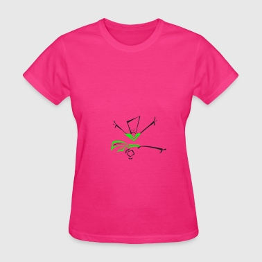 Women's T-Shirt with Squat dancer in color  - Women's T-Shirt