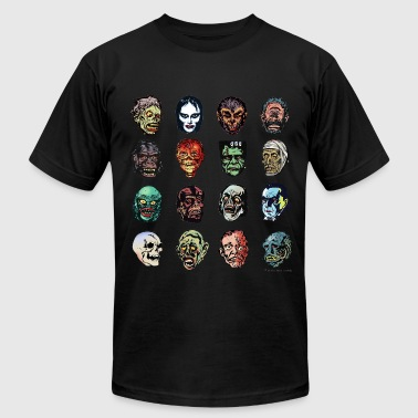 Horror Movie Monster Masks (color) - Men's Fine Jersey T-Shirt