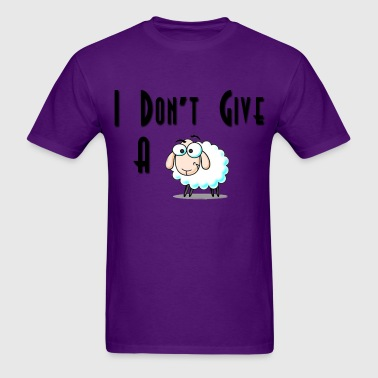Men's T-Shirt - I Don't Give A Sheep  - Men's T-Shirt
