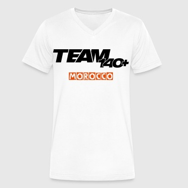 TEAM 140+ MOROCCO - Men's V-Neck T-Shirt by Canvas